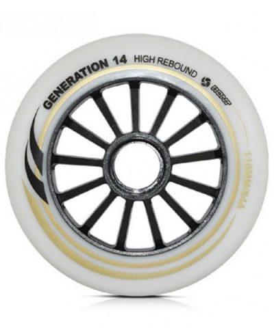 Bont Generation 14 high rebound 110mm 84a wielen